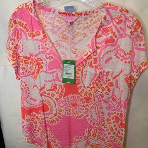 Lilly Pulitzer NWT pink summer fun top